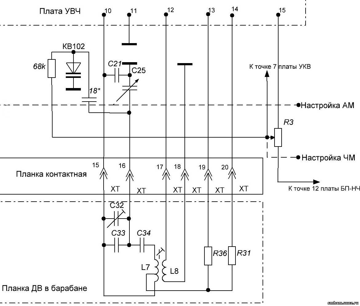 схема радиоприемника ишим 003